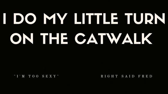 I DO MY LITTLE TURN ON THE CATWALK