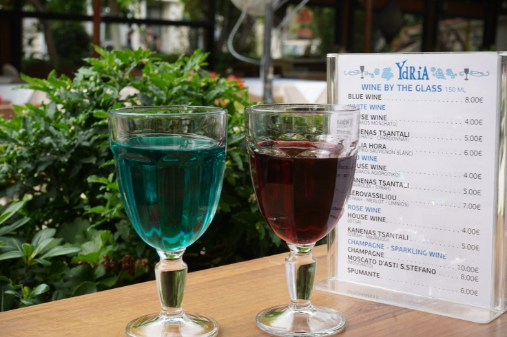 Blue Wine in Athens